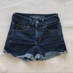 American Eagle High Rise Super Stretch Jean Shorts